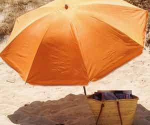 beach, orange, and summer image