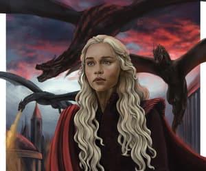 dragons, daenerys targaryen, and dragon queen image