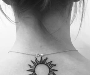 tattoo, sun, and ink image