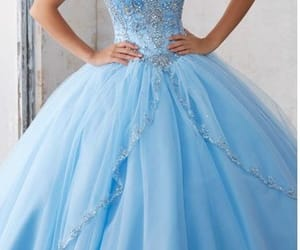 blue, sparkle, and dress image