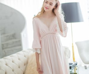 blonde, bride, and nightgown image
