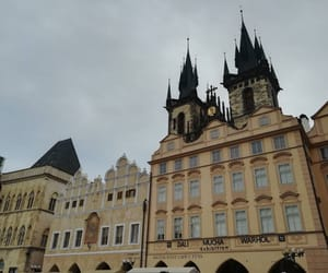 old town square, prague, and travel image