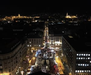 budapest, christmas, and lights image