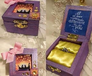 beauty and the beast, ring, and disney image