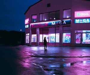 aesthetic, dark, and pink image