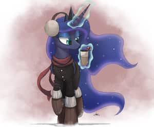 luna, MLP, and winter image