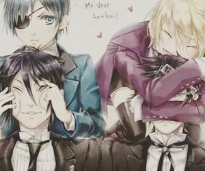 black butler, sebastian, and kuroshitsuji image