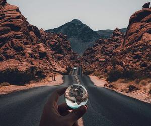 travel, road, and landscape image