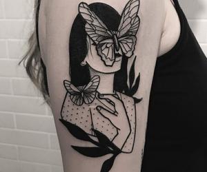 tattoo, girl, and tatto image