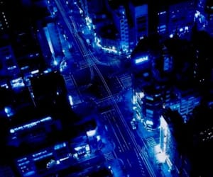 blue, night, and building image