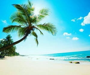 beach, relaxing, and travel image