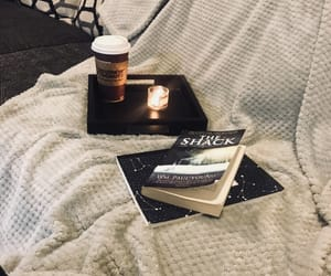 aesthetic, reading, and book and latte image