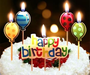 candle, hbd, and b-day image