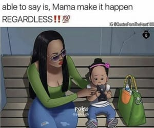 black, mama, and mommy image
