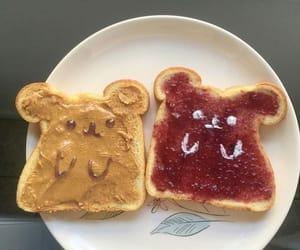 food, breakfast, and jam image