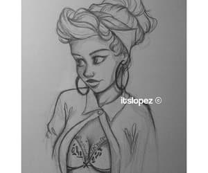 art, drawing, and selana gomez image