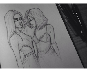 art, kendall jenner, and kylie jenner image
