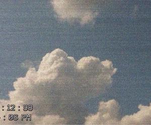 blue, sky, and retro image