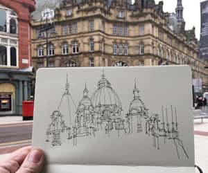 building, drawing, and sketch image