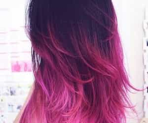 black and pink, hair, and pink image