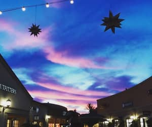 sky, sunset, and cotton candy sky image