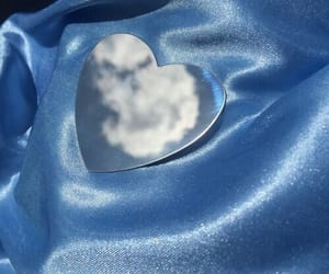 blue, aesthetic, and heart image