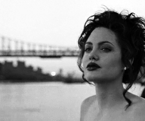 Angelina Jolie, black and white, and gif image