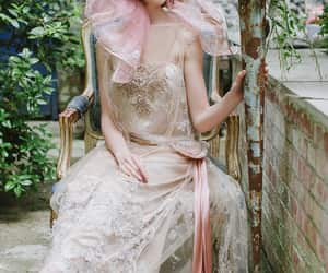 beauty, long dress, and ladie image