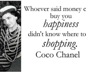 coco chanel, happiness, and quotes image