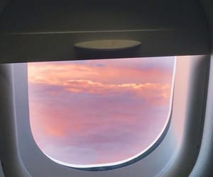 sky, plane, and wallpaper image