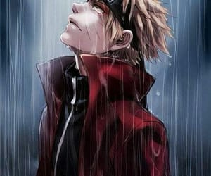 naruto, anime, and rain image