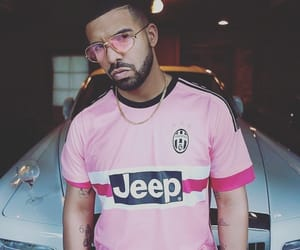 Drake, pink, and jeep image