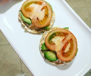 avocado, breakfast, and tomato image