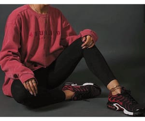 ghetto, red, and nike image