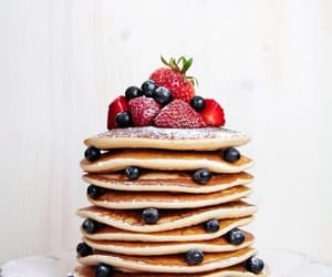 food, pancakes, and fruit image