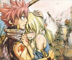 fairy tail, lucy heartfilia, and natsu dragneel image