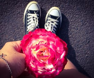 converse, like, and flowers image