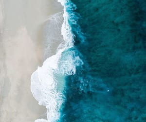 sea, blue, and beach image