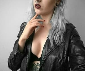 ink, piercing, and greyhair image