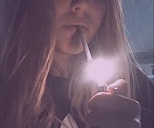 cigarette, grunge, and light image