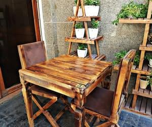 chair, coffee shop, and coffee image