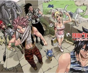 happy, gray fullbuster, and erza scarlet image