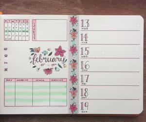 diy, bullet journals, and february image