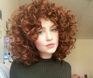 redhead, curly hair, and hair image