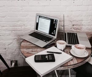 study, coffee, and school image