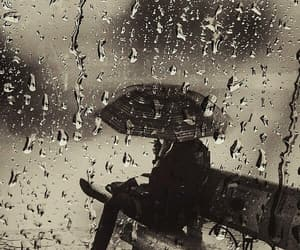 rain and umbrella image