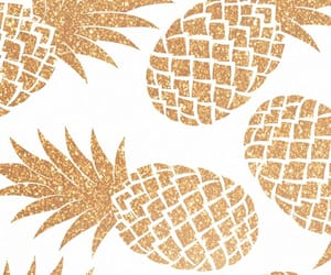 background, gold, and pineapple image
