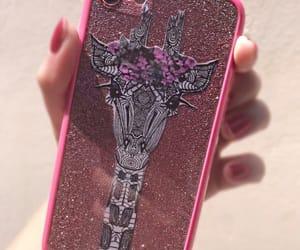 girafa, glitter, and iphone image