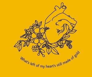 quotes, yellow, and art image