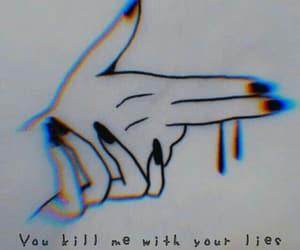 gun, nails, and hands image